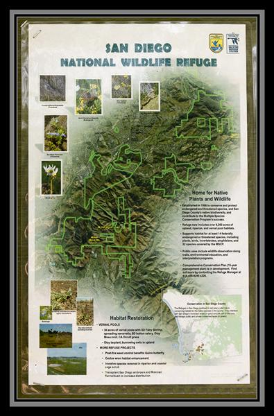San Diego National Wildlife Refuge map