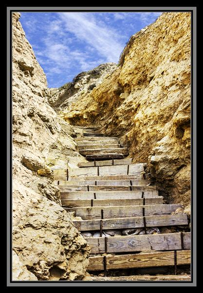 Stairs to Blacks Beach in San Diego, California