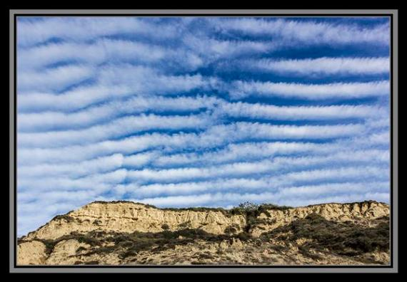 Cloud formations at Blacks Beach in San Diego, California