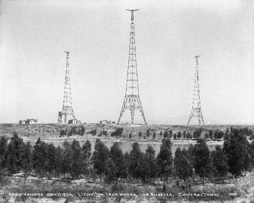 Chollas Heights radio transmission towers in San Diego, California
