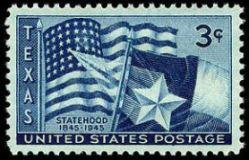 Scott #1038, Texas statehood