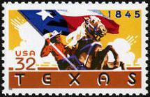 Scott #2968, Texas statehood