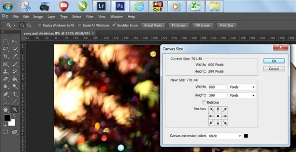 Canvass size window in Photoshop CS6