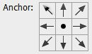 Anchor box in Photoshop CS6