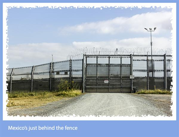 Mexico is just behind the fence