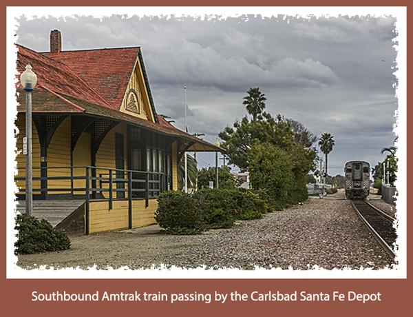 Amtrak at Carlsbad, California