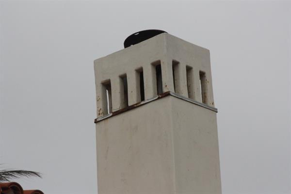 Non-Santa Claus-friendly chimney
