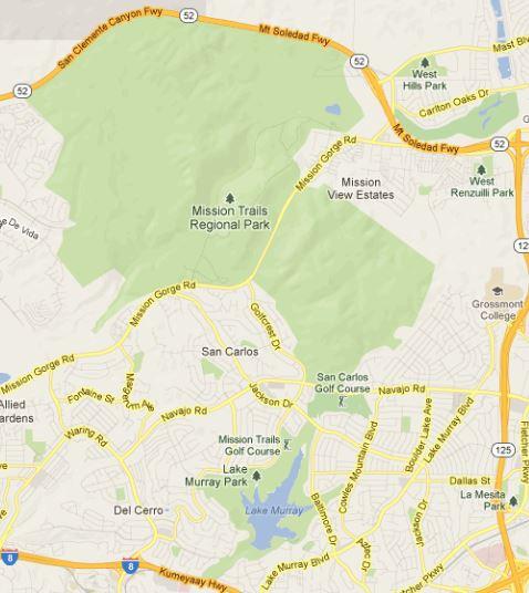 Mission Trails Regional Park map