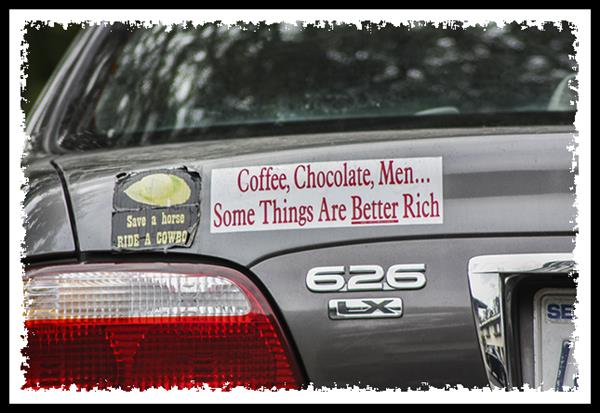 Coffe, chocolate, men... some things are better rich