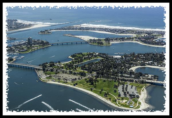 San Diego's Mission Bay Park from the air