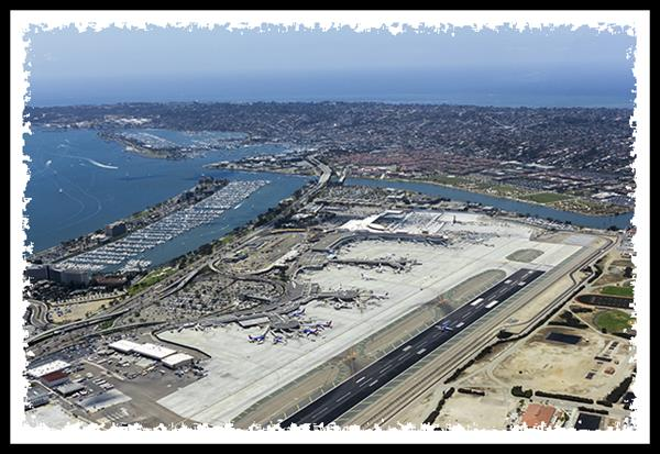 San Diego International Airport from San Diego Sky Tours