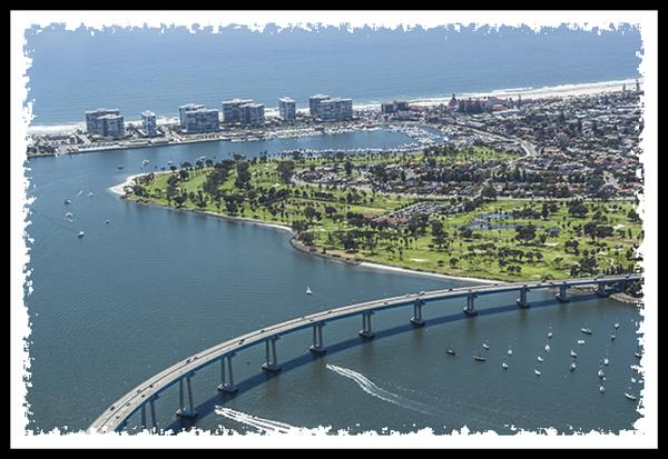 Coronado, California, from the air
