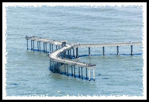 Ocean Beach pier from San Diego Sky Tours