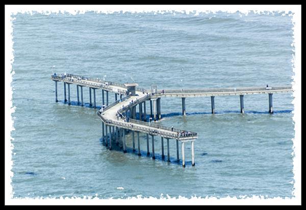 Ocean Beach pier from San Diego Sky Tours