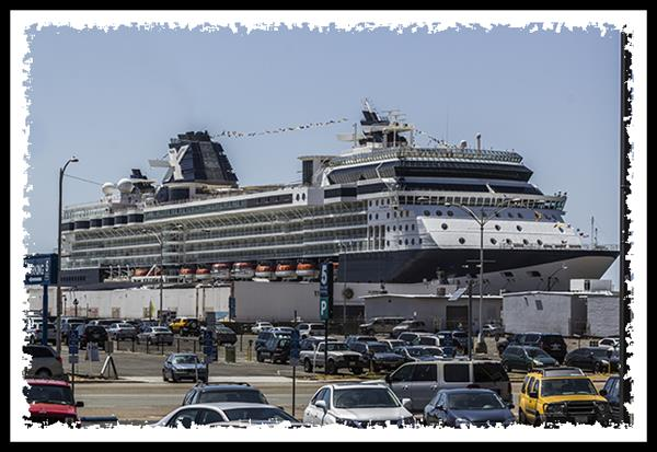 Cruise ship in San Diego