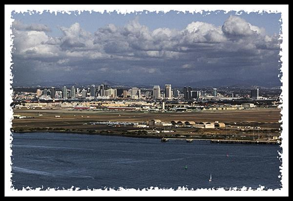 San Diego from Fort Rosecrans National Cemetery