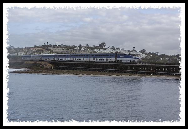 Amtrak in Del Mar, California