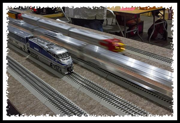 Model trains at the 2013 Worlds Greatest Hobby On Tour show in Del Mar, California