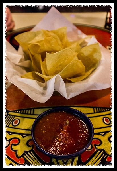Chips and salsa at On The Border