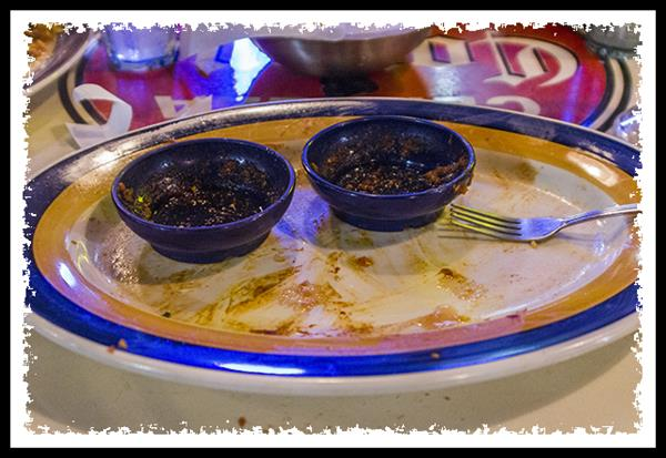 Empty plate at On The Border
