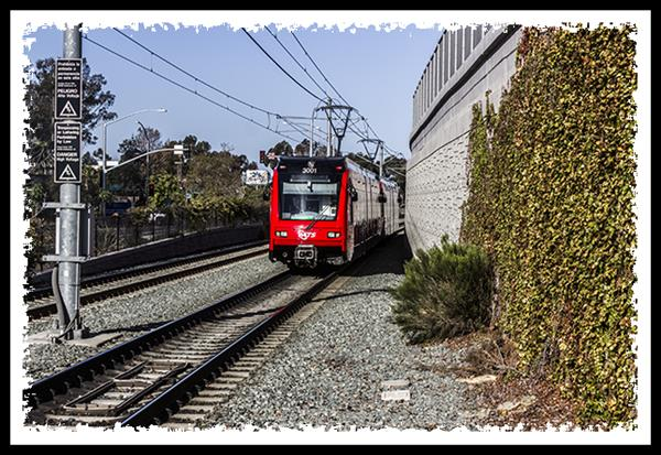 San Diego Trolley at Grantville Station