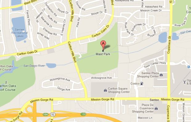 Mast Park West map