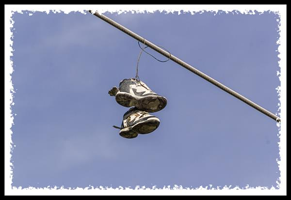 Shoes on utility wire
