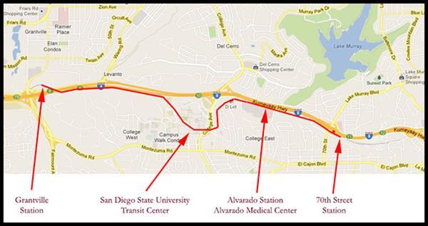 Trolleys San San Diego Trolley Map From