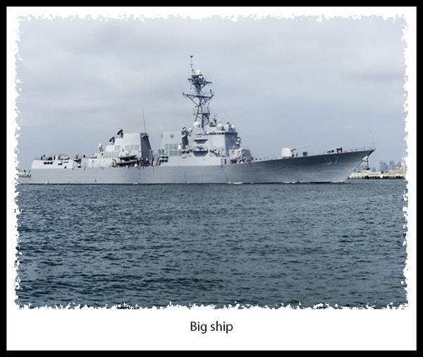 Navy ship in San Diego