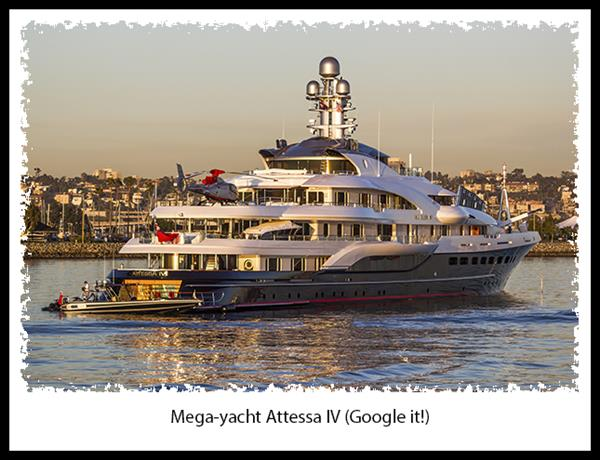 Atessa IV mega-yacht in San Diego