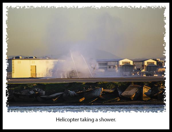 Helicopter shower