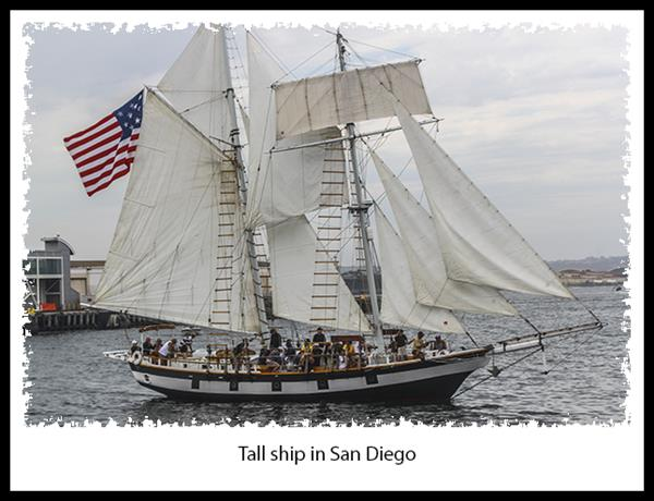 Tall ship in San Diego