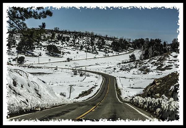 Snow in Julian, California