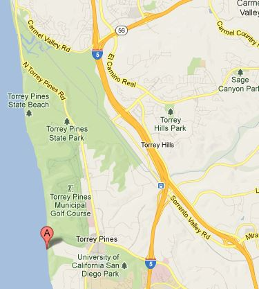 Blacks Beach map