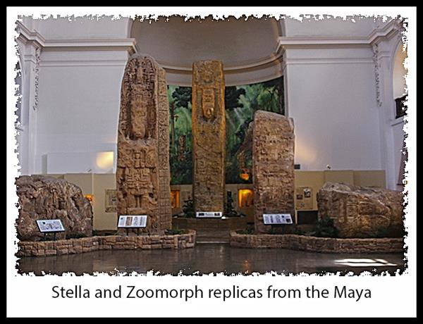 Stella and zoomorphs at the San Diego Museum of Man