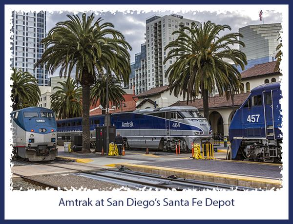 Amtrak at San Diego's historic Santa Fe Depot
