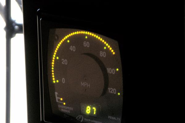 Amtrak speedometer