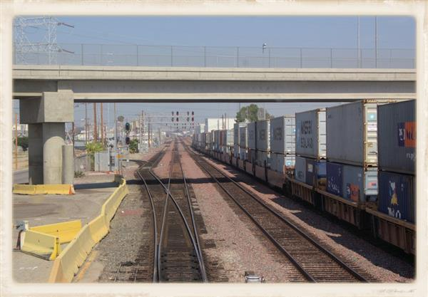 Intermodal container train