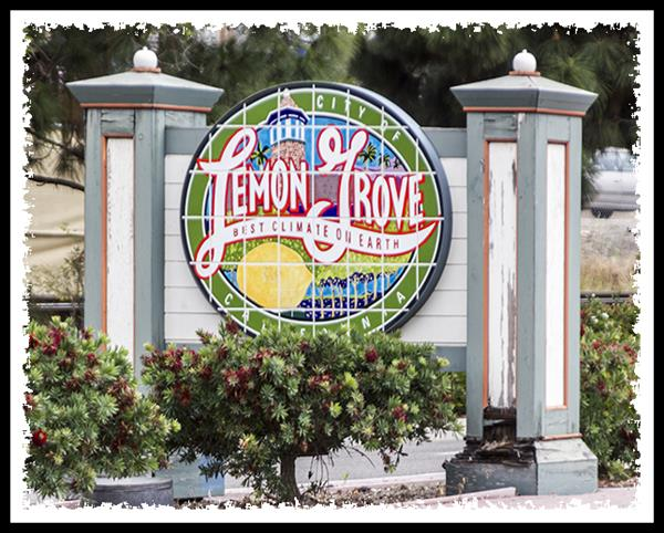Lemon Grove, California, welcome sign