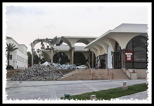 Aztec Center at San Diego State University being demolished in June 2011