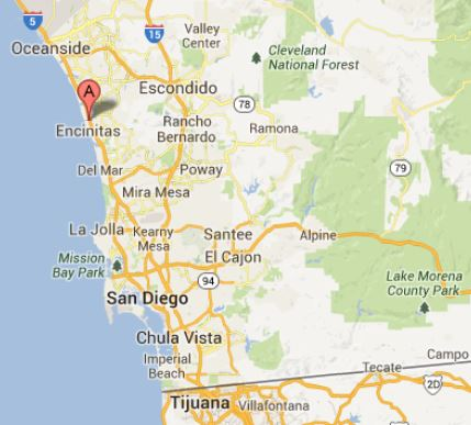 Location of The Monarch Program in Encinitas