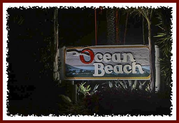 Ocean Beach neighborhood sign