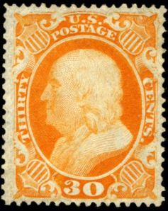 Benjamin Franklin postage stamp, Scott #38