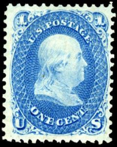 Benjamin Franklin postage stamp, Scott #63