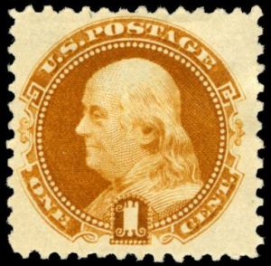 Benjamin Franklin postage stamp, Scott #133