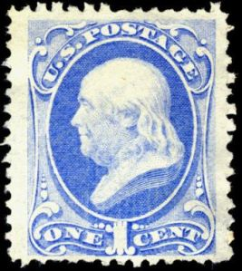 Benjamin Franklin postage stamp, Scott #134