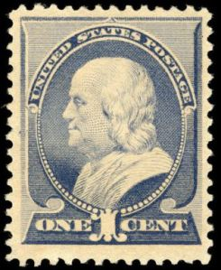 Benjamin Franklin postage stamp, Scott #212