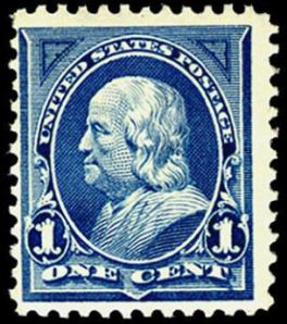 Benjamin Franklin postage stamp, Scott #247