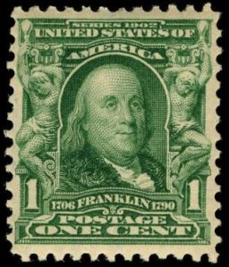 Benjamin Franklin postage stamp, Scott #300