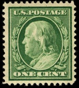 Benjamin Franklin postage stamp, Scott #331